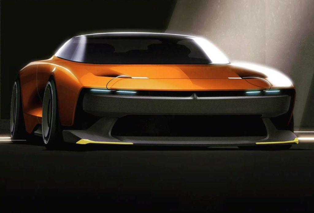 Dodge Challenger Hellcat racing - Rendering