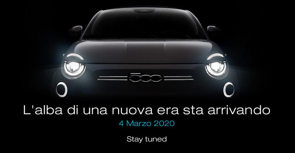 Fiat 500 elettrica: il 4 marzo la 500 a zero emissioni [TEASER]