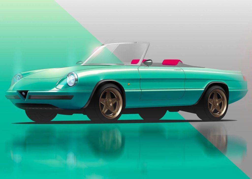 Alfa Romeo Spider Duetto - Icon-e Garage Italia - Rendering