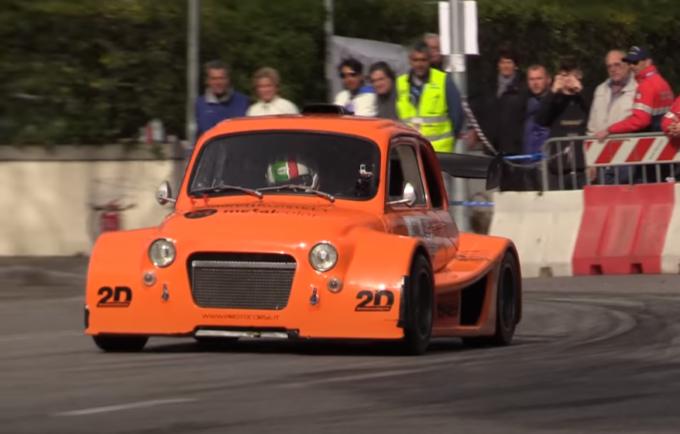 Fiat 500: il pazzo e inarrestabile Cinquino da corsa [VIDEO]