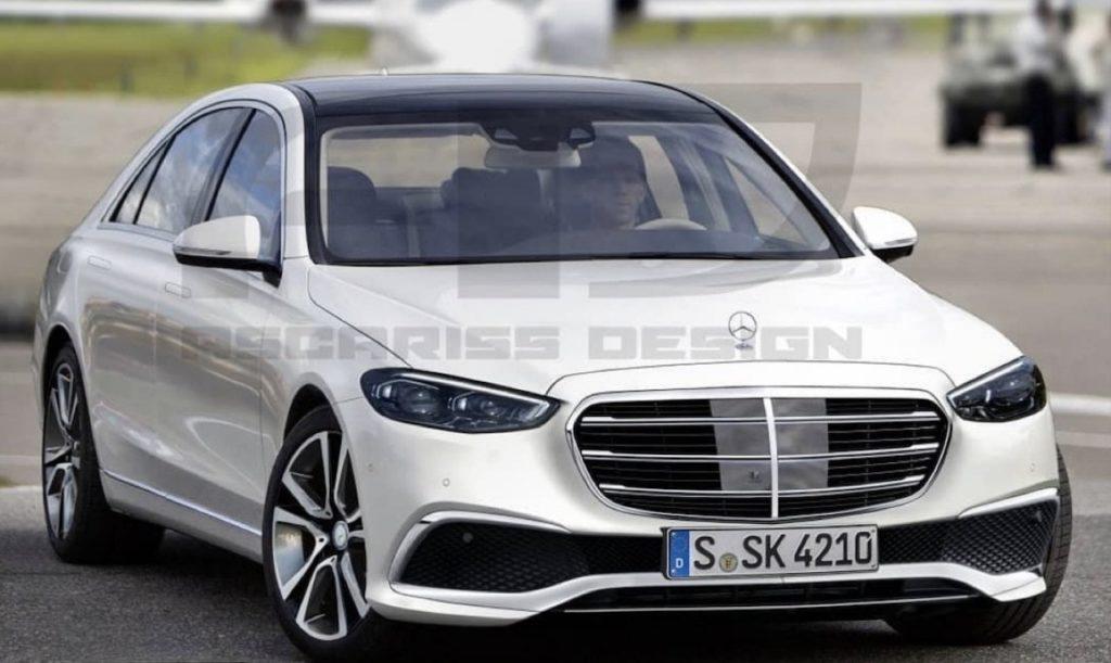 Mercedes Classe S 2021: design sinuoso e interni futuristici [RENDER]