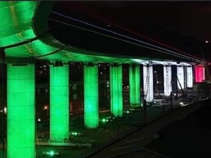 Nuovo ponte di Genova, oggi il varo dell'ultima campata: l'opera si è illuminata col tricolore