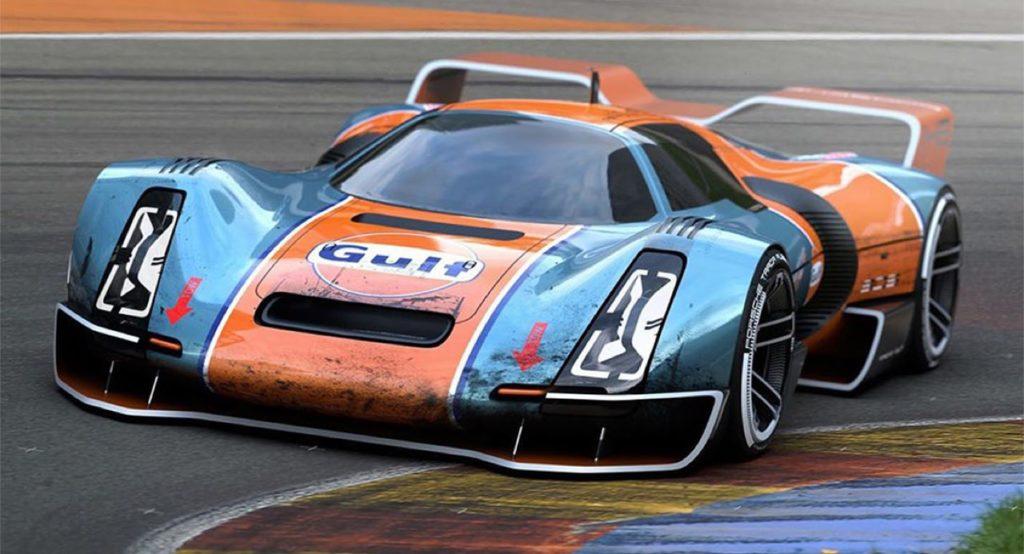 Porsche 906 Hommage: la concept con livrea Gulf che si ispira al passato [RENDERING]