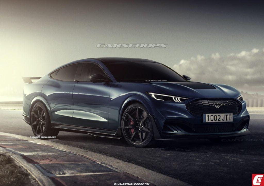 Ford Mustang Mach -S 2023: come sarebbe una berlina elettrica su base Mustang? [RENDER]