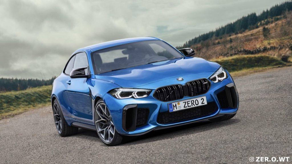 Nuova BMW M2 2022: griglia contenuta e design aggressivo [RENDERING]