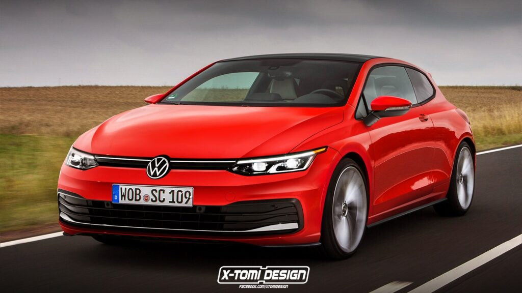Volkswagen Scirocco in un RENDER di ispirazione Golf