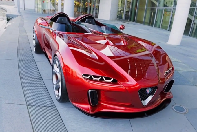 Alfa Romeo Barchetta: panoramica in video sull'idea di moderna sportiva senza tetto [RENDER]