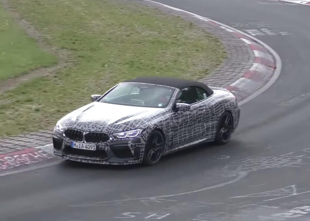 BMW M8 CS 2020: nuovo avvistamento sulla pista del Nurburgring [VIDEO SPIA]