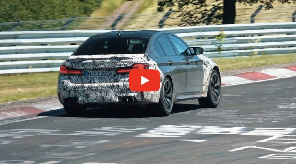 BMW M5 CS 2021: continuano i test al Nurburgring [VIDEO SPIA]