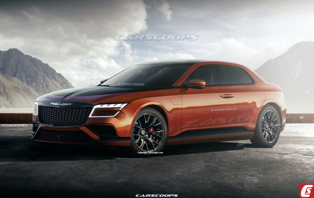 Chrysler 300 C 2023: la variante elettrica o ibrida per il futuro [RENDER]