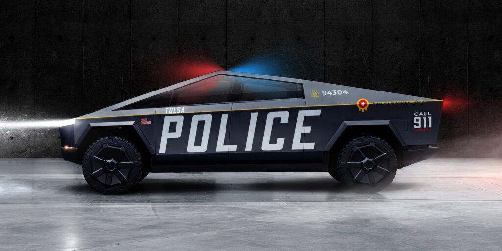 Tesla Cybertruck: cosi sarà la polizia se Elon Musk sposterà le fabbriche in Oklahoma