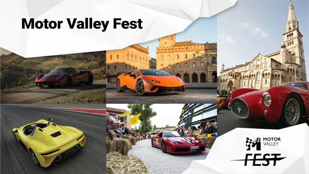 Inizia oggi il Motor Valley Fest 2020