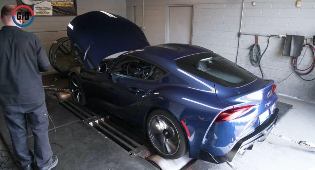 Toyota GR Supra 2021: 50 CV in più rispetto al MY 2020, test sul dyno [VIDEO]