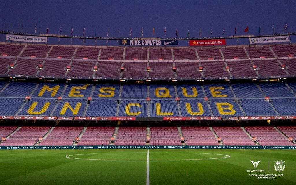 Cupra: il supporto al Barcellona anche a porte chiuse