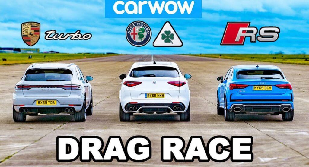 Porsche Macan Turbo vs Alfa Romeo Stelvio Quadrifoglio vs RS Q3: qual è il SUV più veloce?