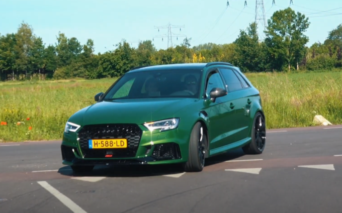Audi RS3 Sportback: in azione tuning ABT in Sanoma Green [VIDEO]
