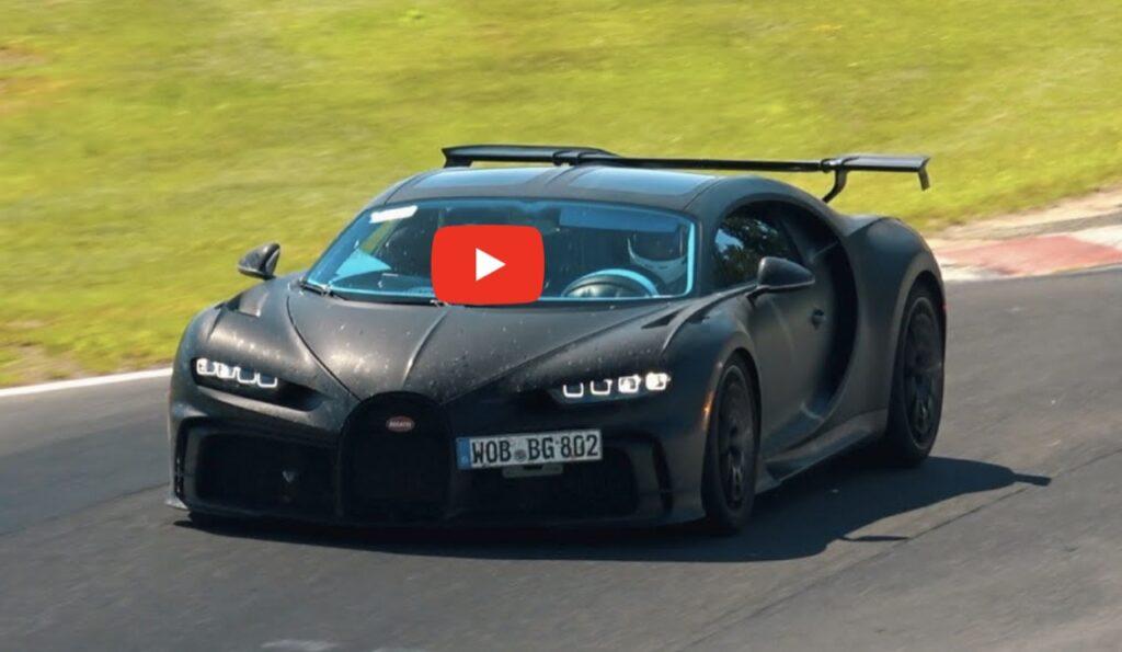 Bugatti Chiron Pur Sport 2020: i test a tutto gas sul circuito del Nurburgring [VIDEO]