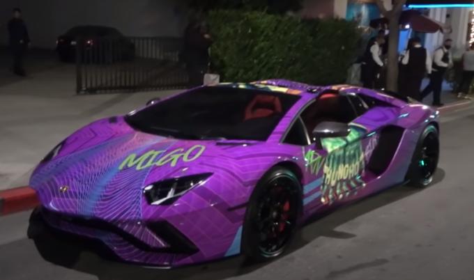 Lamborghini Aventador Roadster: l'esagerata personalizzazione del rapper Quavo [VIDEO]