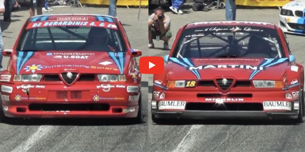 Alfa Romeo 155 GTA contro 155 DTM: sfida a colpi di Biscione [VIDEO]
