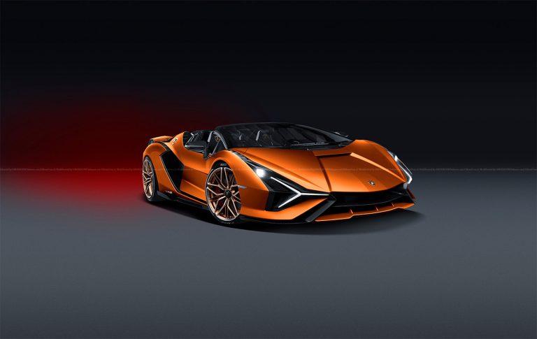 Lamborghini Sian FKP 37: si lavora sulla versione a cielo aperto [RENDER]