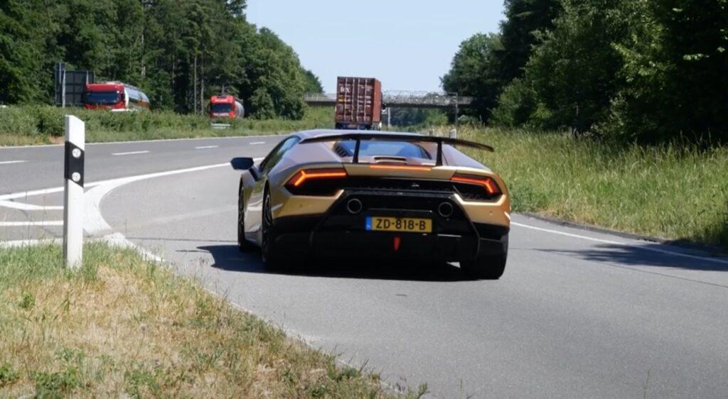 Lamborghini Huracan Performante: il SOUND del V10 ad oltre 330 Km/h in Autobahn [VIDEO]