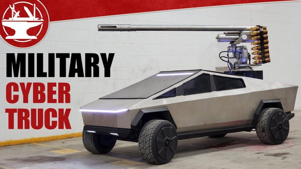 Tesla Cybertruck: ora ha un cannone laser…[VIDEO]
