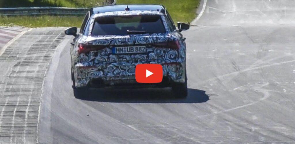 Audi RS3 2021: i tester la spingono al limite sul circuito del Nurburgring [VIDEO SPIA]