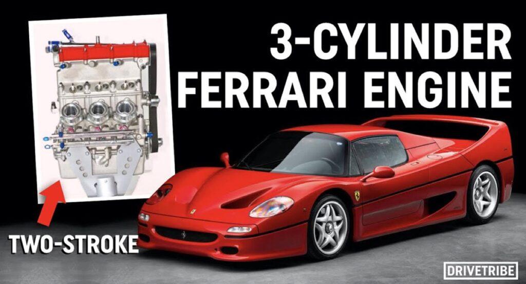Ferrari: il 3 cilindri 1.3 DUE TEMPI turbo che non vide mai la luce [VIDEO]