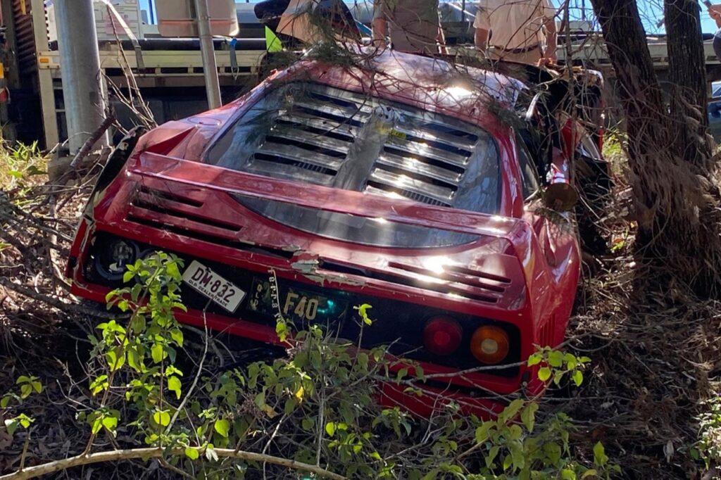 Ferrari F40: un esemplare è andato distrutto in Australia [FOTO]