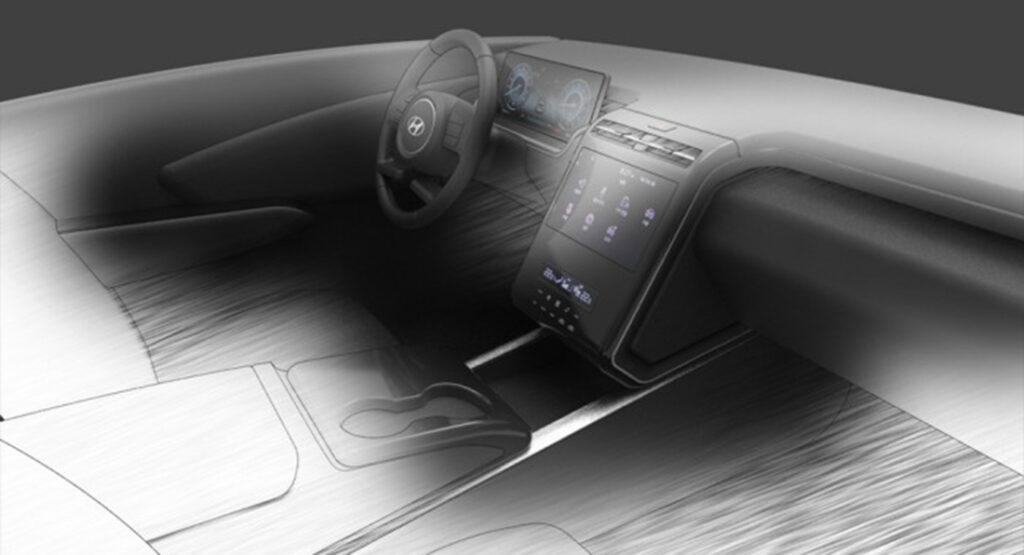 Hyundai Tucson 2021: sfugge online uno sketch design che svela interni inediti [FOTO e VIDEO SPIA]