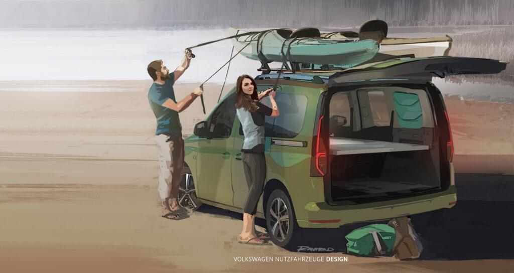 Volkswagen Caddy Mini-Camper 2021 - Teaser