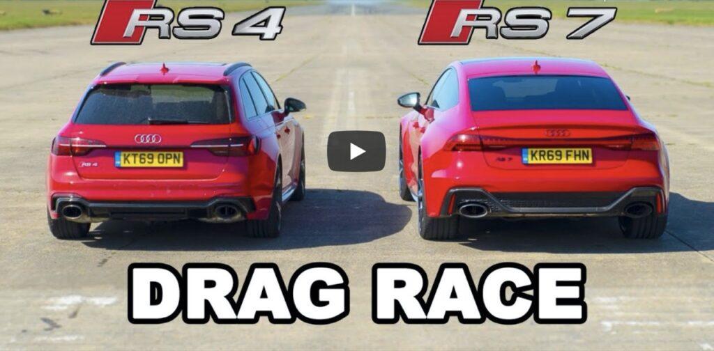 Audi RS4 2020: la drag race con l'Audi RS7 Sportback, V6 contro V8, chi vincerà? [VIDEO]
