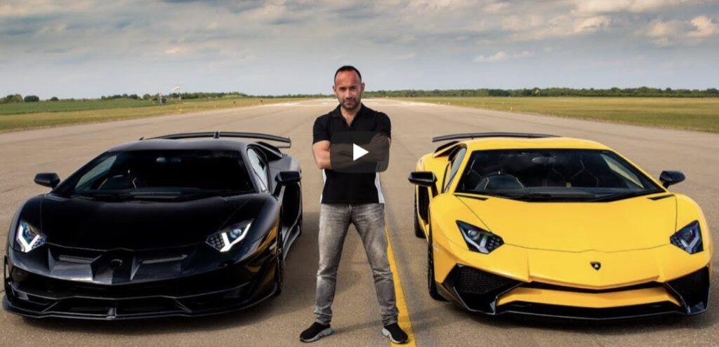 Lamborghini Aventador SV vs Aventador SVJ: drag race, chi sarà più veloce delle due? [VIDEO]