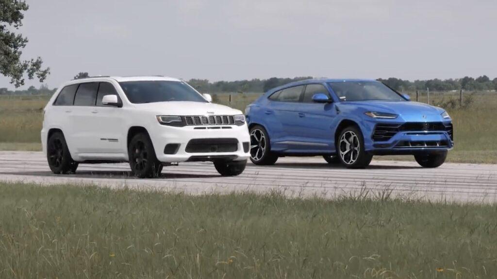 Lamborghini Urus: ecco la Drag Race con il Jeep Grand Cherokee Trackhawk [VIDEO]
