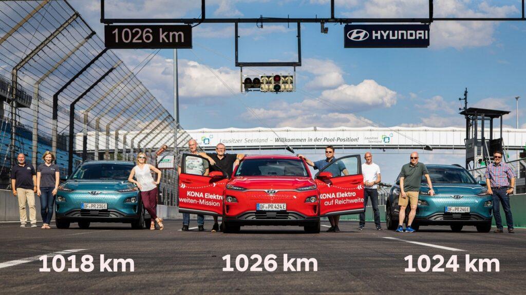 Hyundai Kona Electric: record di autonomia, oltre 1.000 chilometri