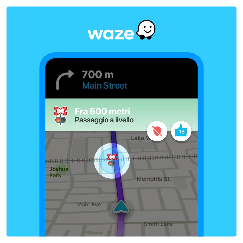 """Waze introduce la nuova funzione """"Passaggio a Livello"""""""