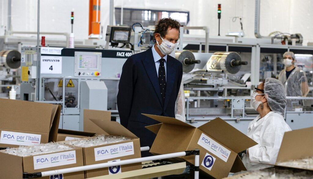 FCA: raggiunta quota 100 milioni di mascherine prodotte