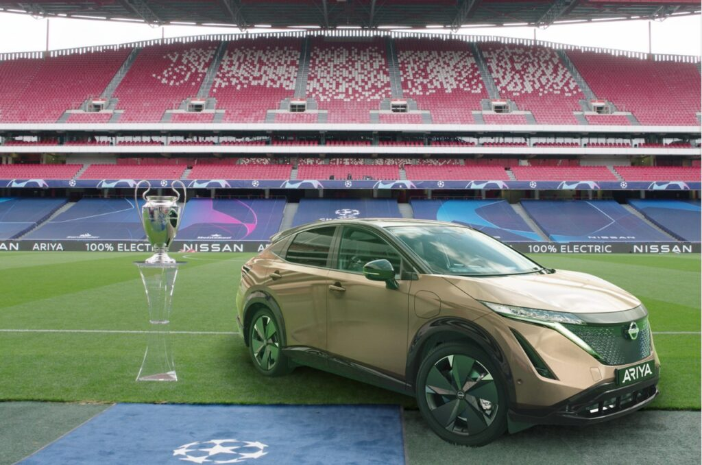 Nissan: un drive-in e l'Ariya per la finale di Champions League
