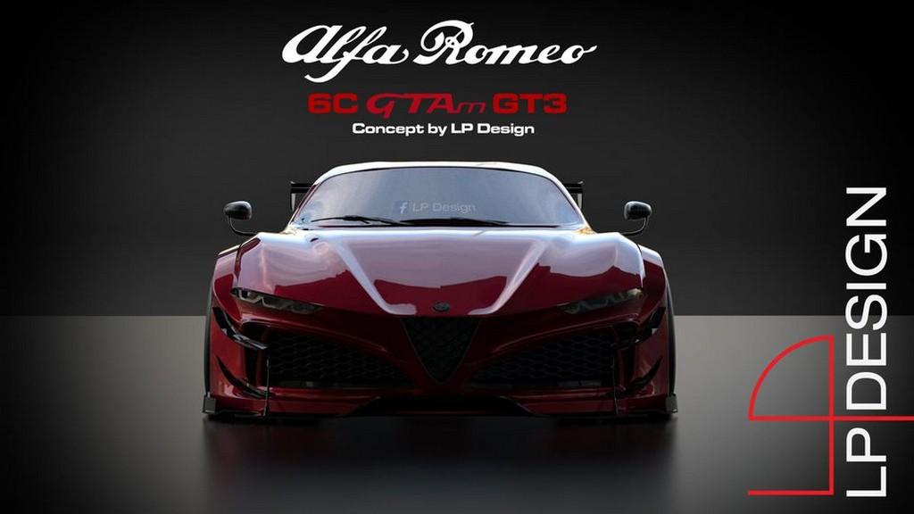 Alfa Romeo 6C GTAm GT3: stupendo concept di LP Design [FOTO]