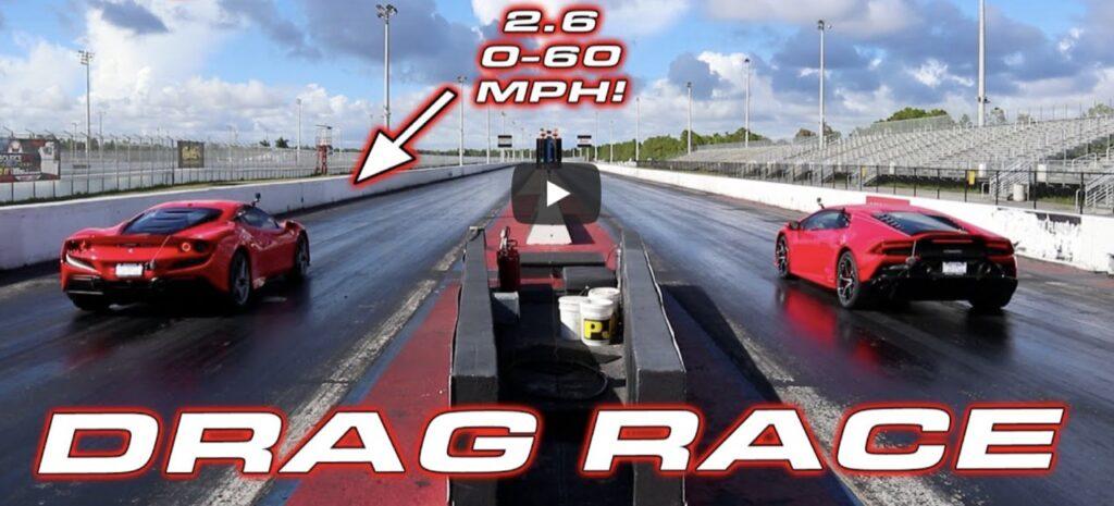 Ferrari F8 vs Lamborghini Huracan EVO: qual è la più veloce sul quarto di miglio? [VIDEO]