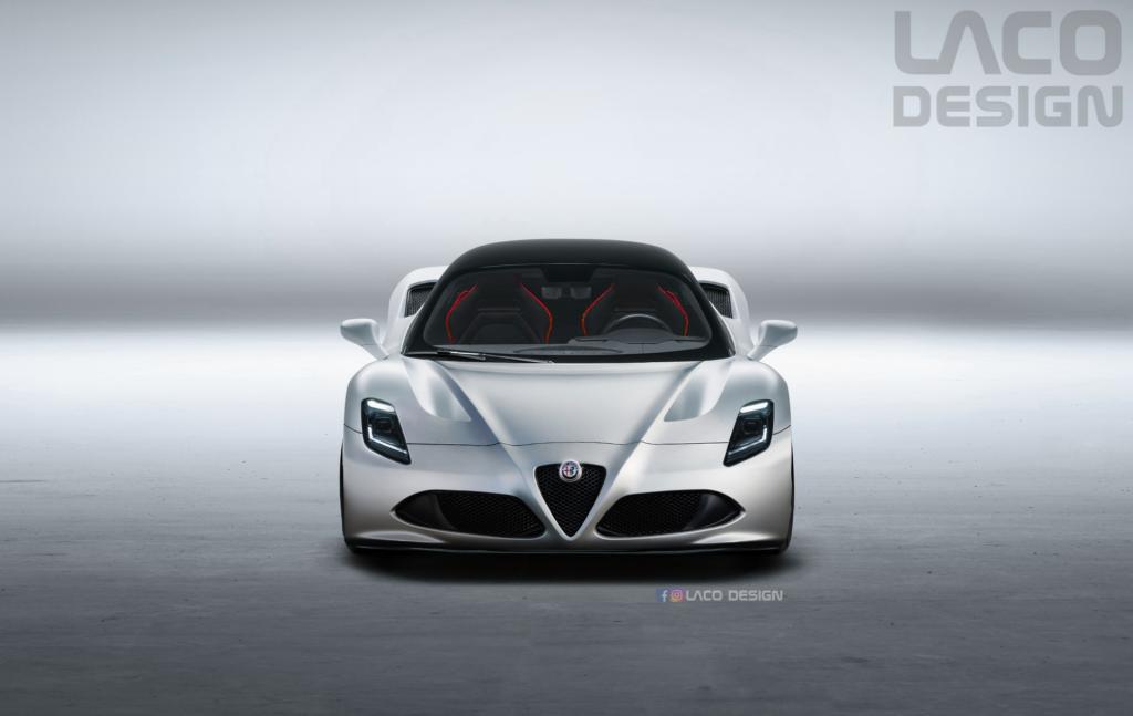 Maserati MC20: ecco come sarebbe se fosse nata col marchio Alfa Romeo [RENDER]
