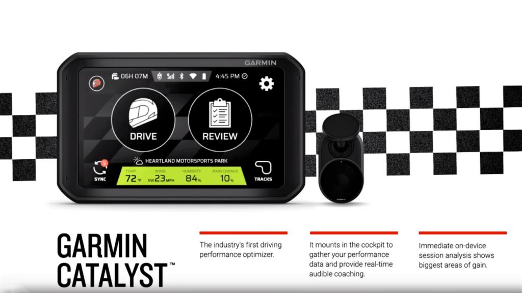 """Garmin Catalyst: il """"virtual coach"""" per migliorare la guida in pista"""
