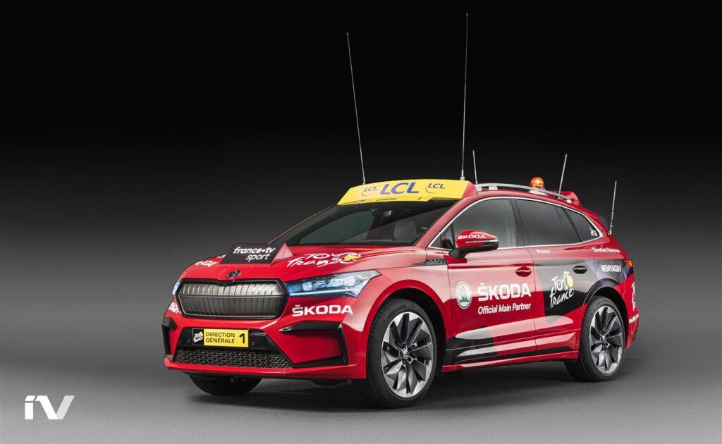 Skoda Enyaq iV subito in strada: farà da Red Car del Tour de France 2020