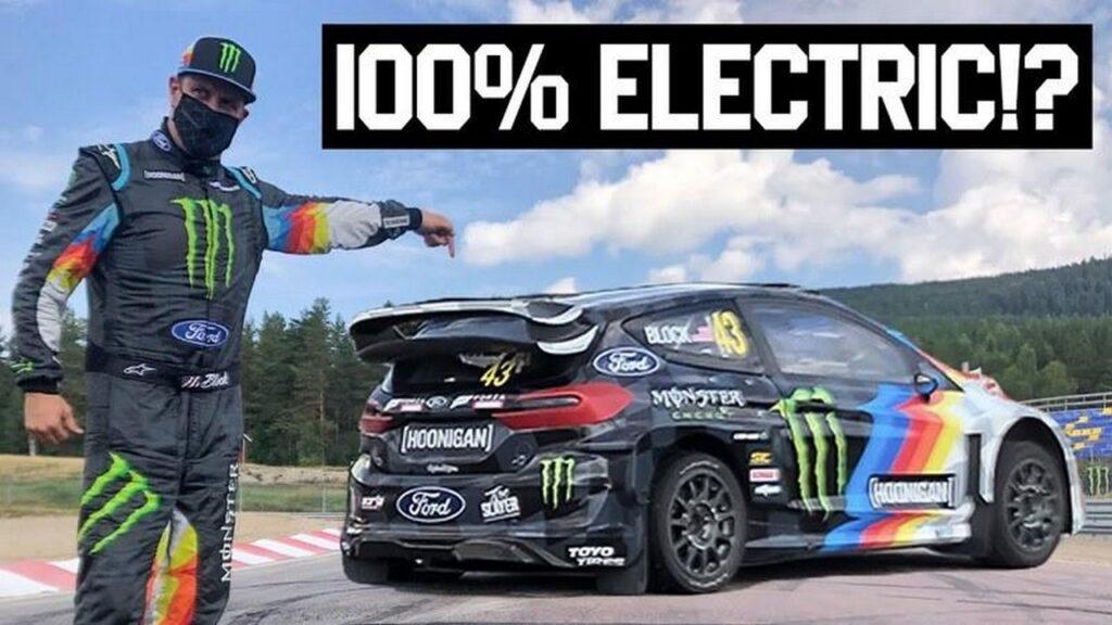 Ford Fiesta ERX: la compatta elettrica di Ken Block vince la prima gara [VIDEO]