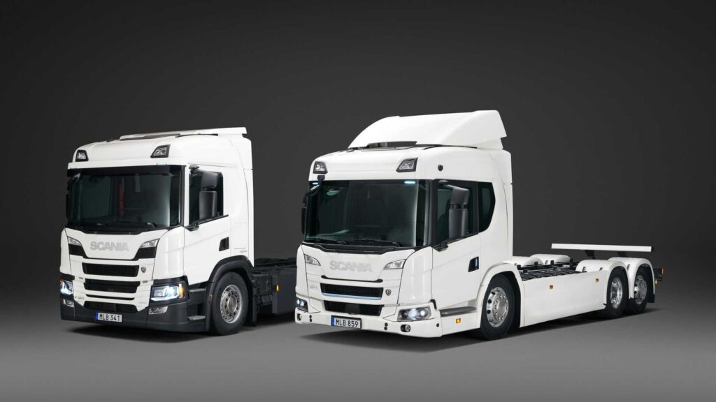 Scania: una gamma di camion ibridi plug-in e 100% elettrici