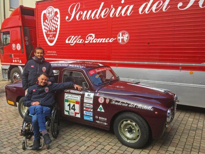 1000 Miglia 2020: l'Alfa Romeo 1900 TI guidata da Clay Regazzoni promotrice di mobilità senza barriere