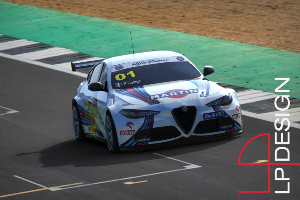 Alfa Romeo Giulia BTCC Martini Racing: il RENDER che porta la berlina in pista