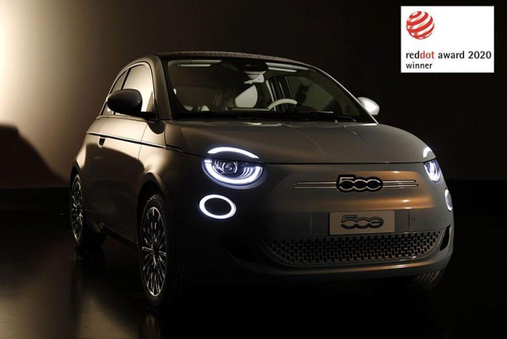 Nuova Fiat 500 si aggiudica il Red Dot Award 2020
