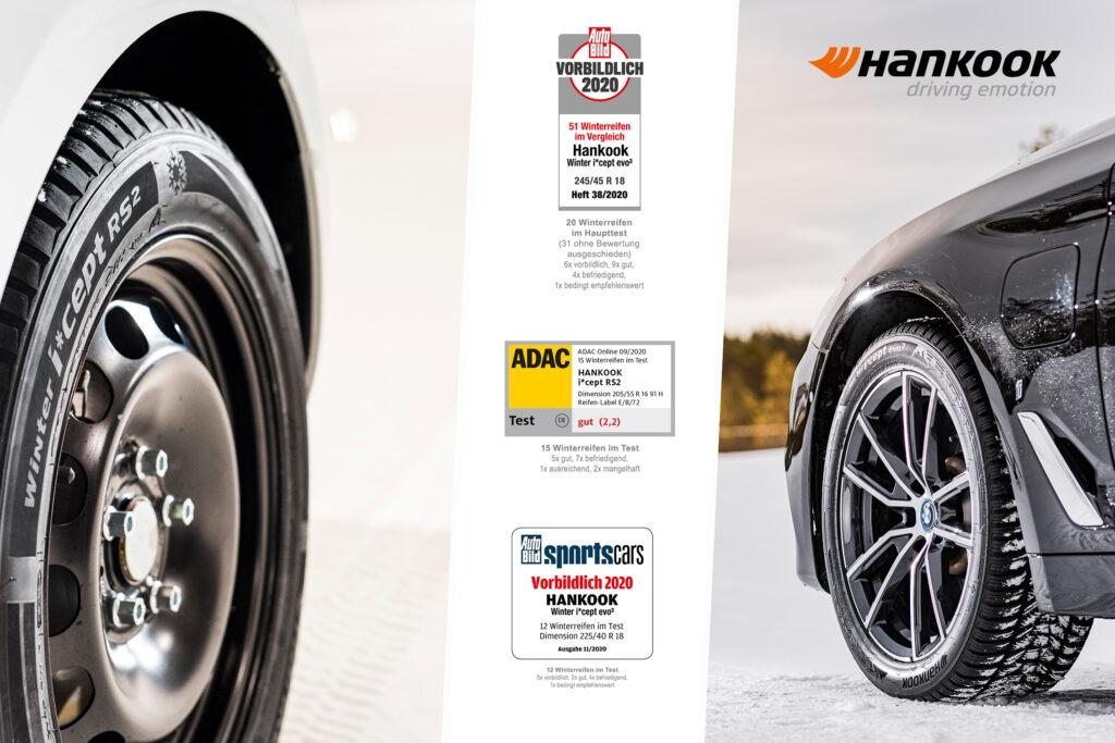 Hankook: gli pneumatici invernali superano brillantemente i test indipendenti