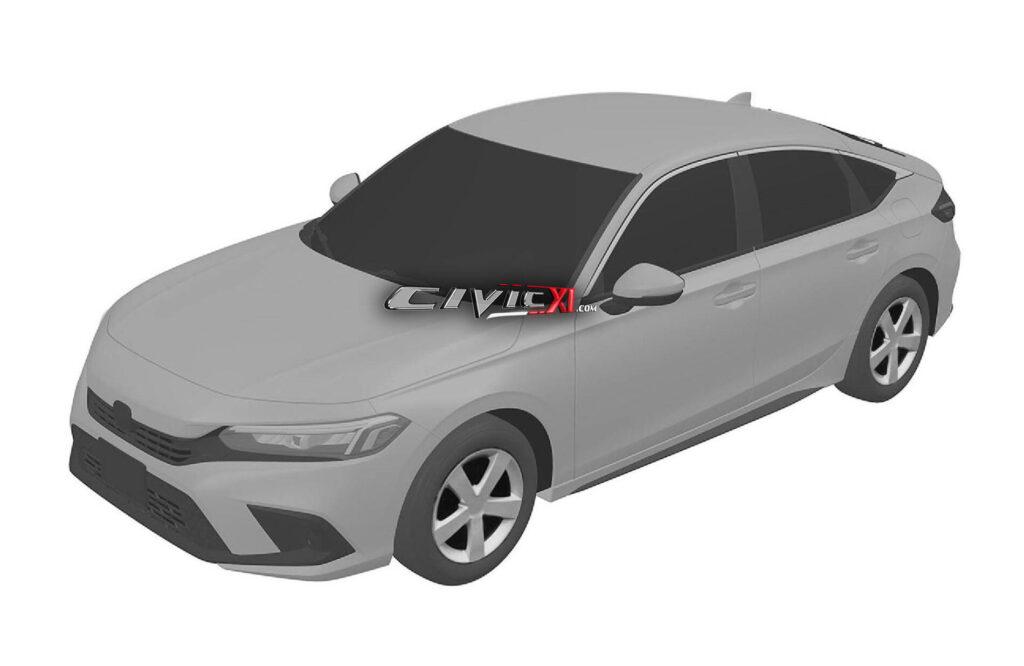 Honda Civic 2022 - Disegni brevetto